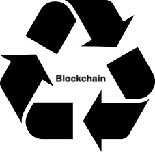 Blockchain protected recycling tracers