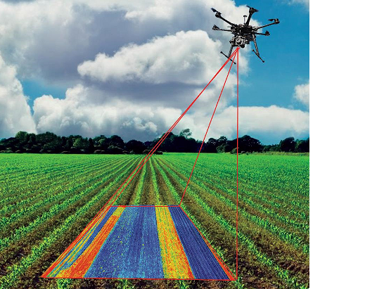 Further development of sensors to be used in drones