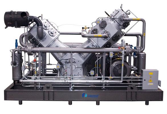 Development of 40 bar oil free pet compressor